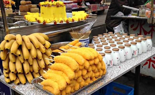 China: They were all yellow..... #breakfast #muslimquarter #xianscenes