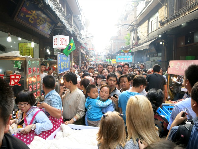 Muslim Quarter in Xian China Expats