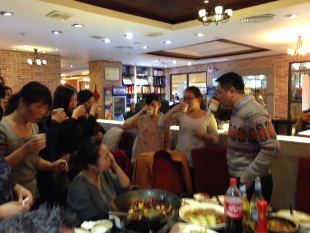 Baijiu at dinner events in china