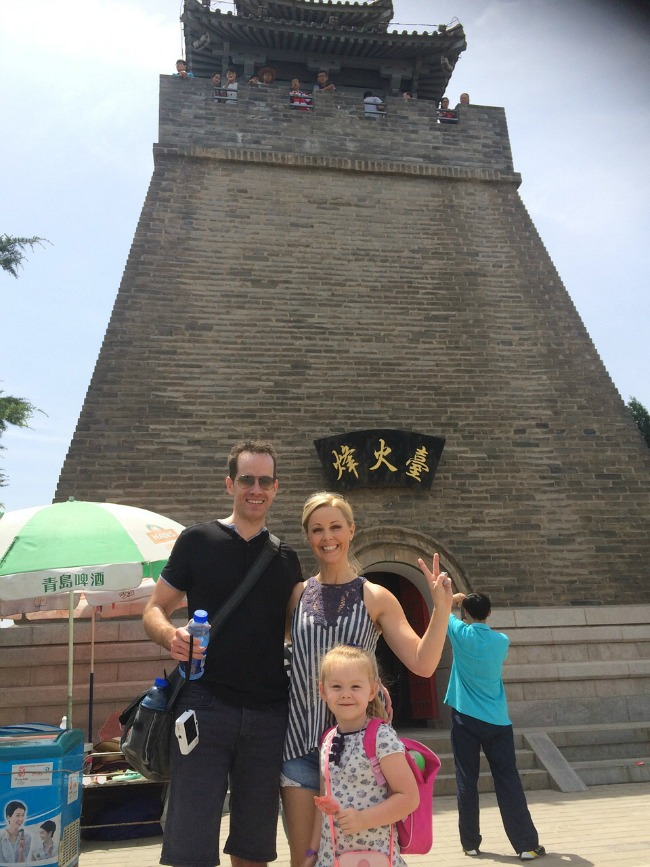 Arriving at the top of Xian's Famous mt Lishan