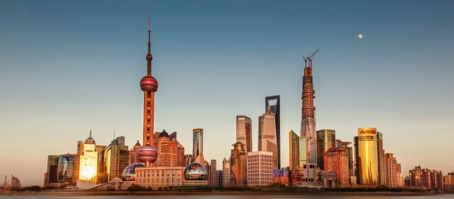 Shanghai-Skyline-golden-hour