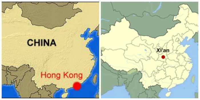Map of China/Map of Hong Kong