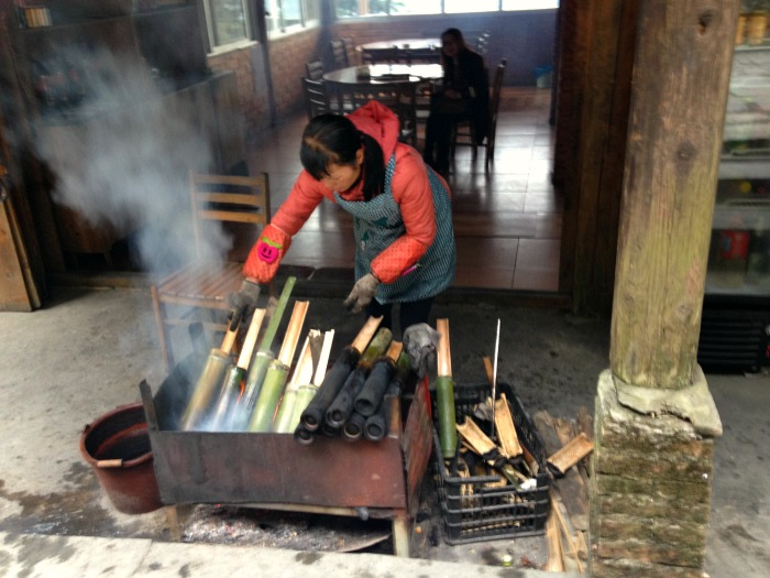 Guilin Ping'an Bamboo cooking