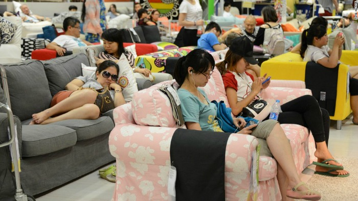 Ikea in China busy