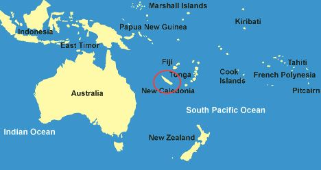 New Caledonia location