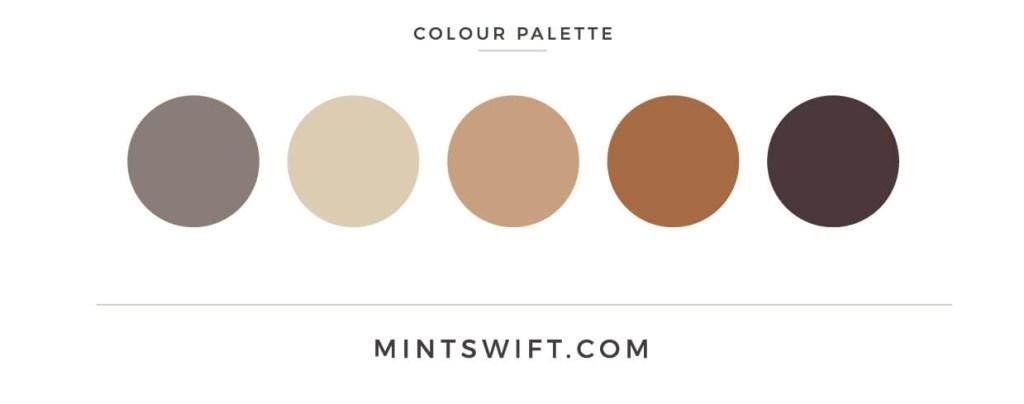 Canyon Heart - colour palette - MintSwift