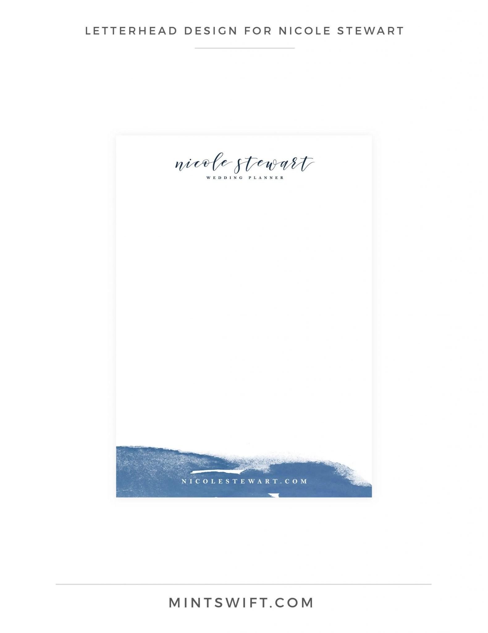 Nicole Stewart - Letterhead Design - Brand Design Package - MintSwift