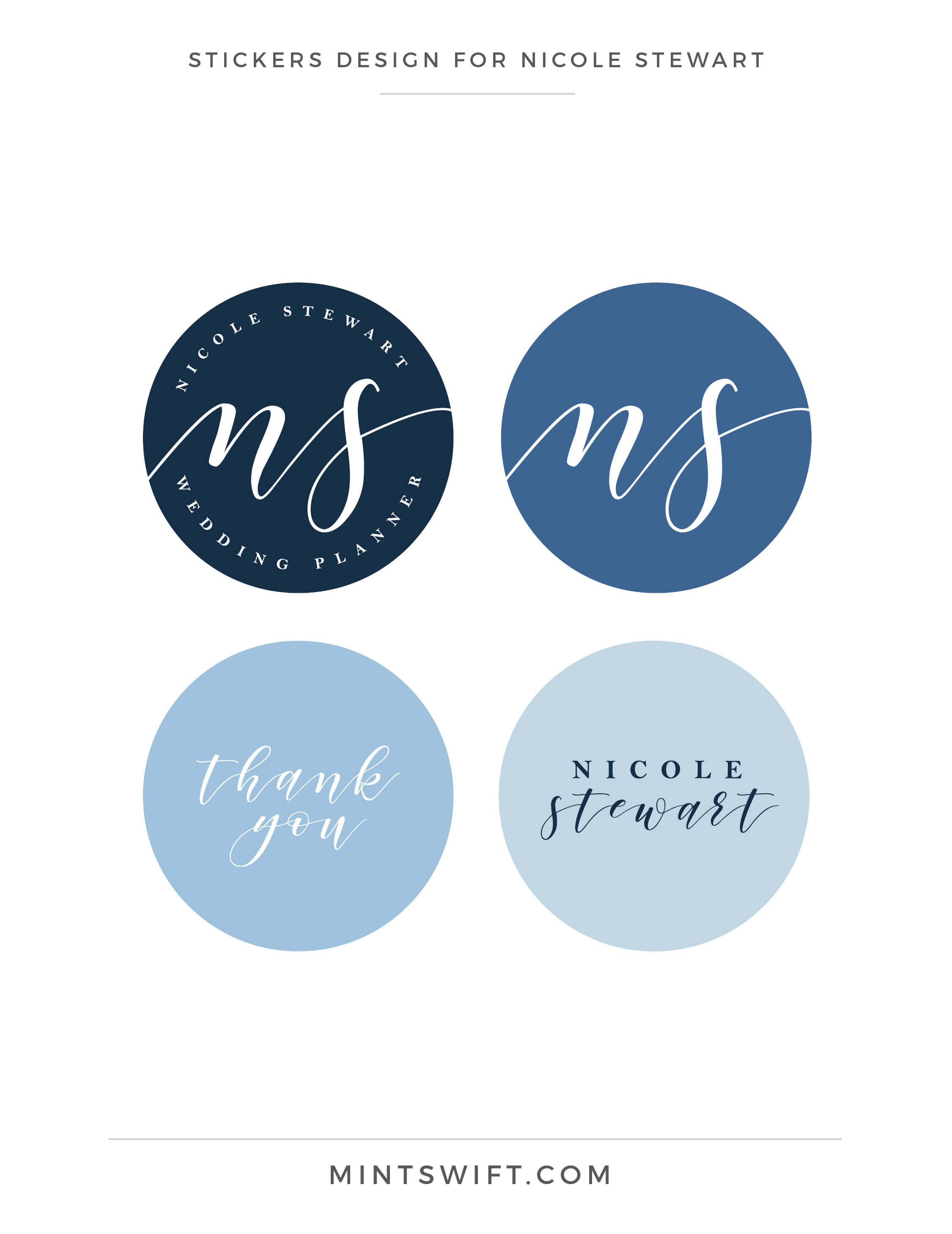 Nicole Stewart - Stickers Design - Brand Design Package - MintSwift