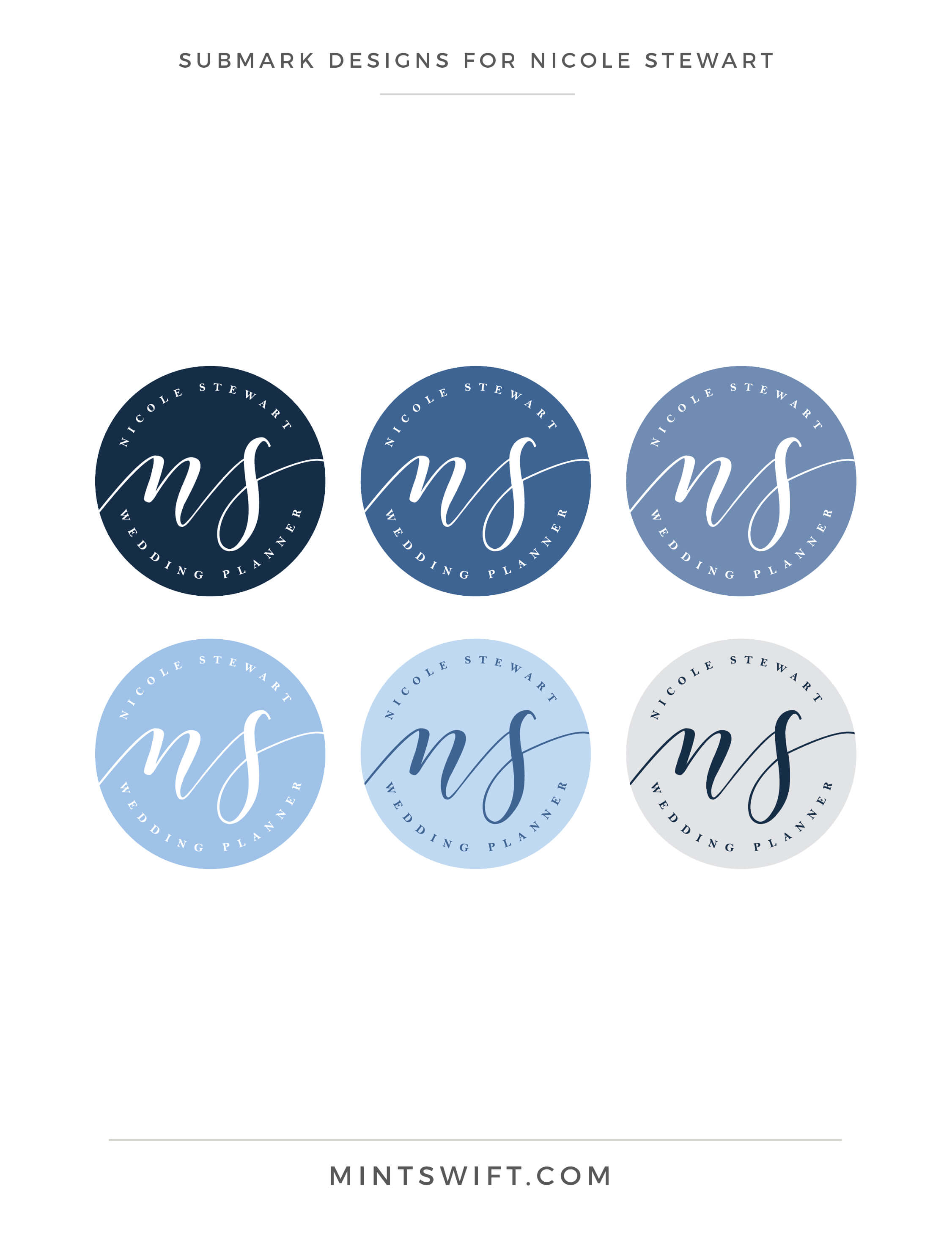 Nicole Stewart - Submark Designs - Brand Design Package - MintSwift