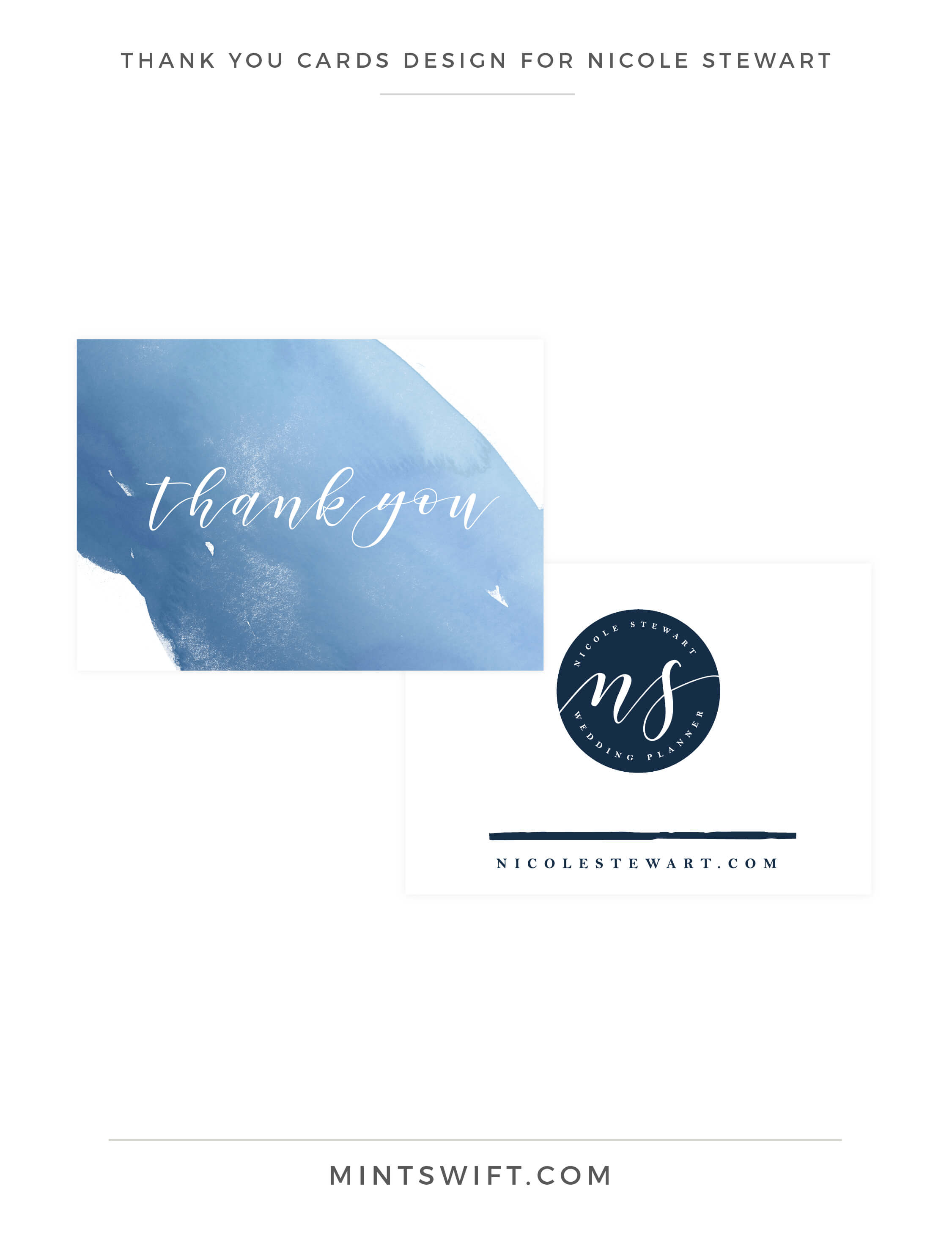 Nicole Stewart - Thank You Cards Design - Brand Design Package - MintSwift