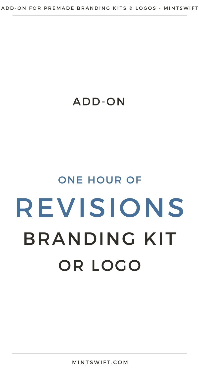One Hour of Revisions Branding Kit or Logo