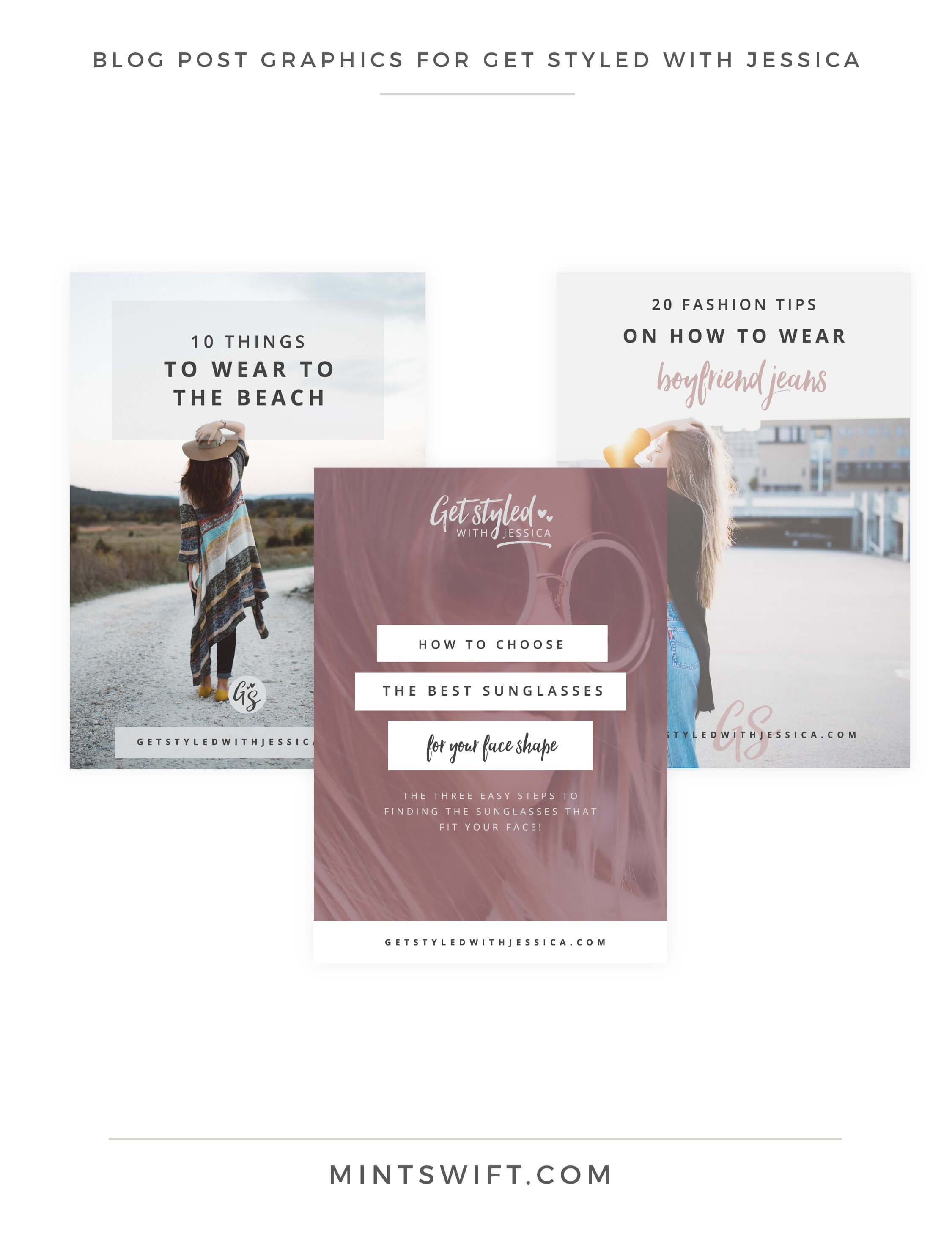Get Styled with Jessica - Blog Post Graphics - Brand Design Package - MintSwift
