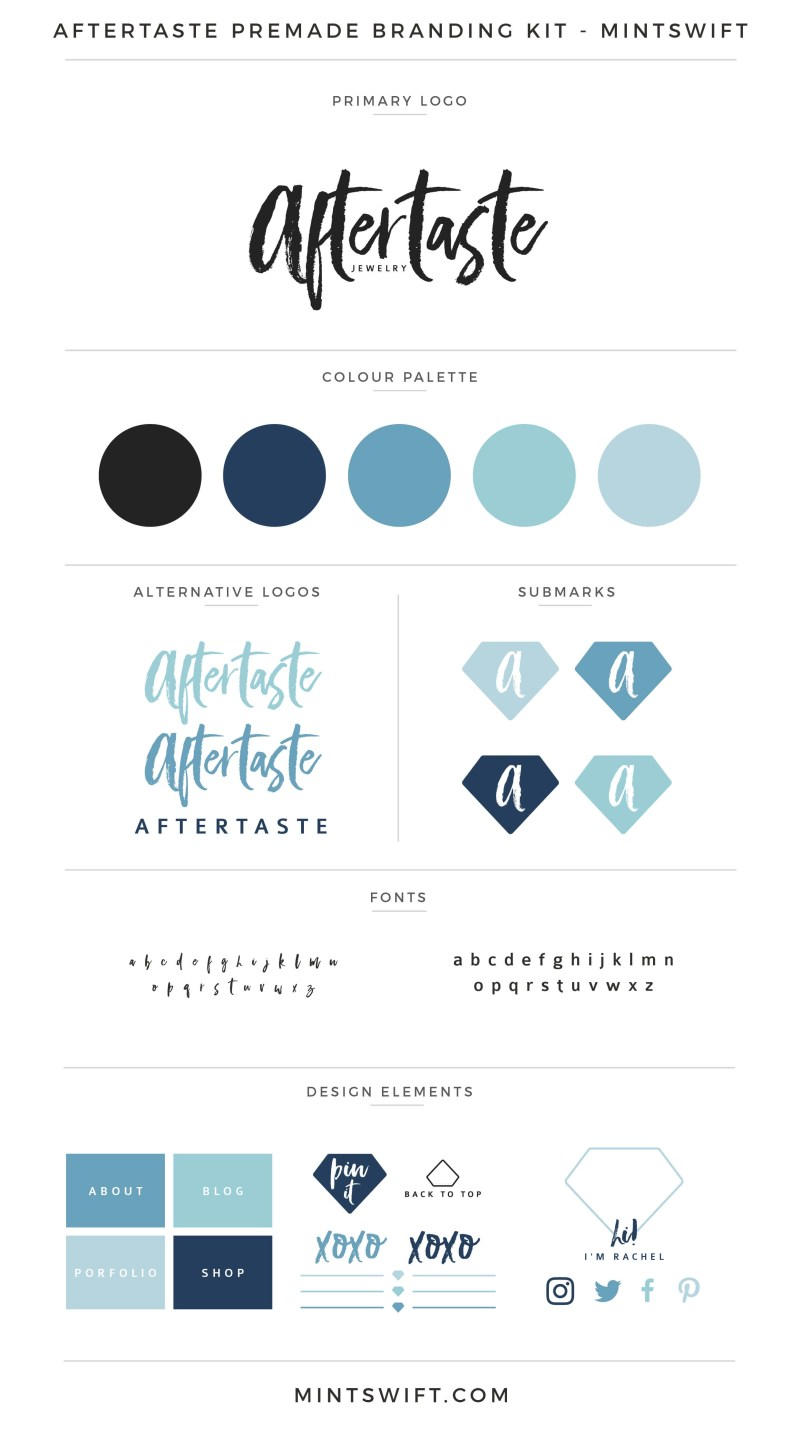 Aftertaste Premade Branding Kit – MintSwift