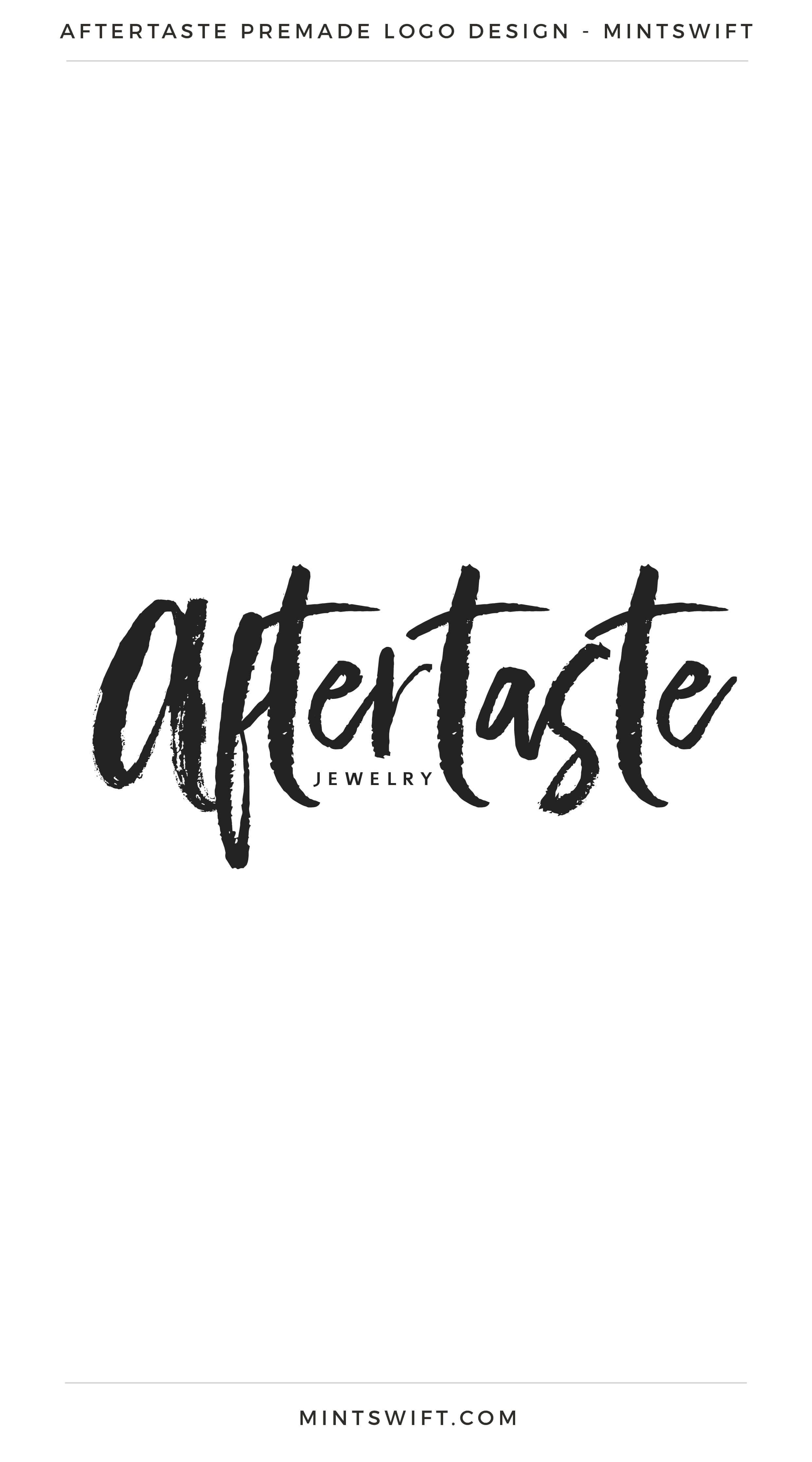 Aftertaste Premade Logo | Premade Logo | Premade logos | Pre-made logo | Premade Brand Design| Branding | Brand Design | Logo Shop | Branding kits shop | MintSwift Shop | Premade logo design | Add-On | Logo Design | MintSwift| Adrianna Glowacka | MintSwift Design