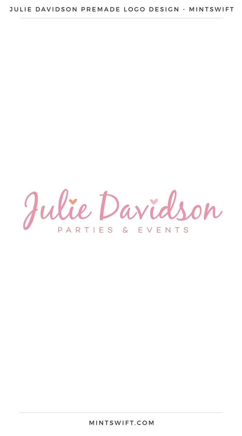 Julie Davidson Premade Logo –MintSwift