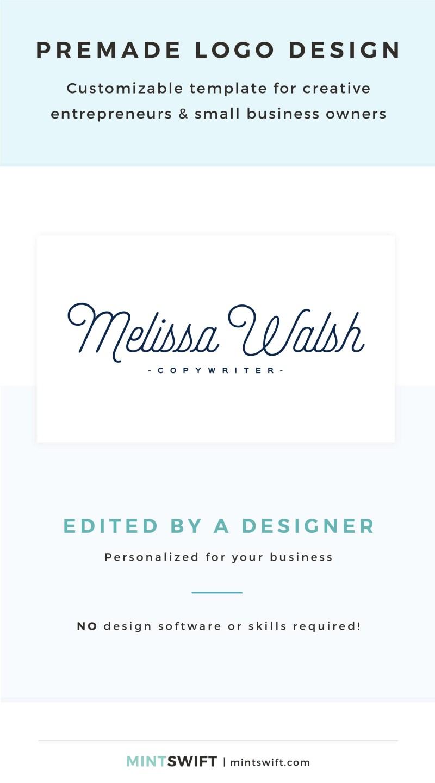 Melissa Walsh Premade Logo