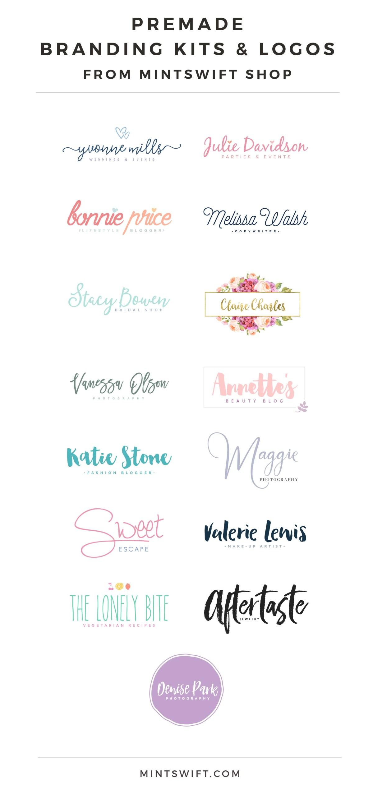 Premade Branding Kits & Premade Logos from MintSwift Shop