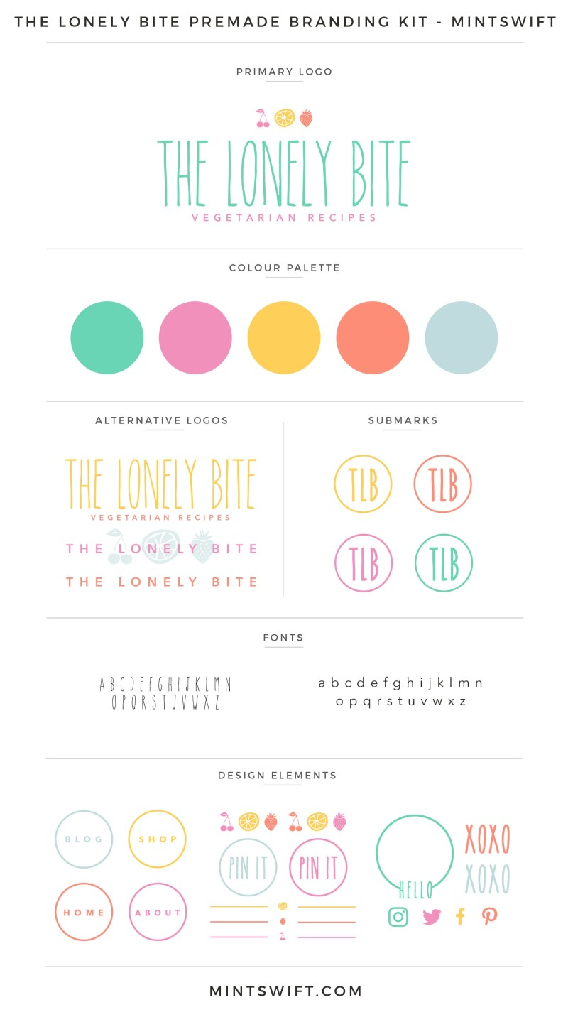 The Lonely Bite Premade Branding Kit – MintSwift