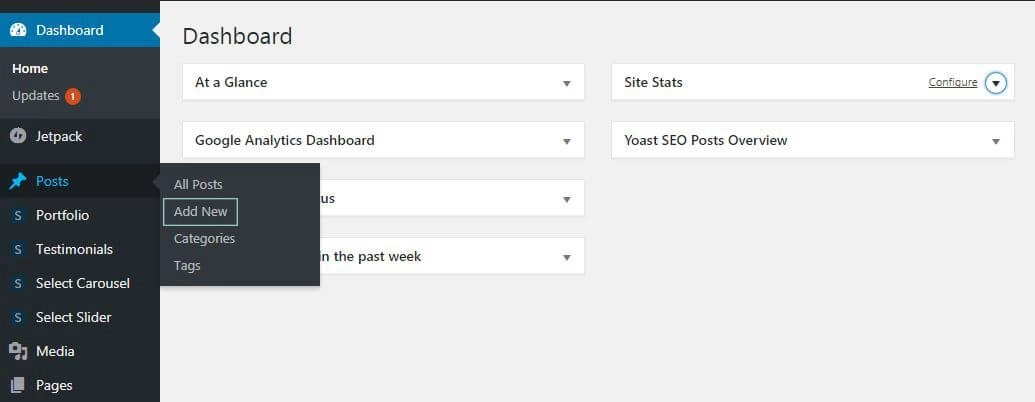 Creating a WordPress Post