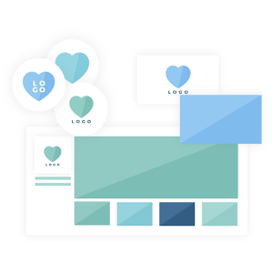 Brand collaterals design icon - Brand design package - MintSwift