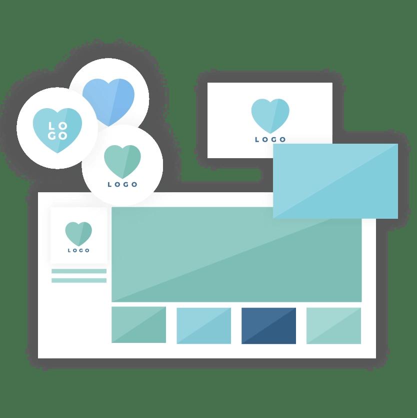 Brand collaterals design - icon - brand & website design package - MintSwift
