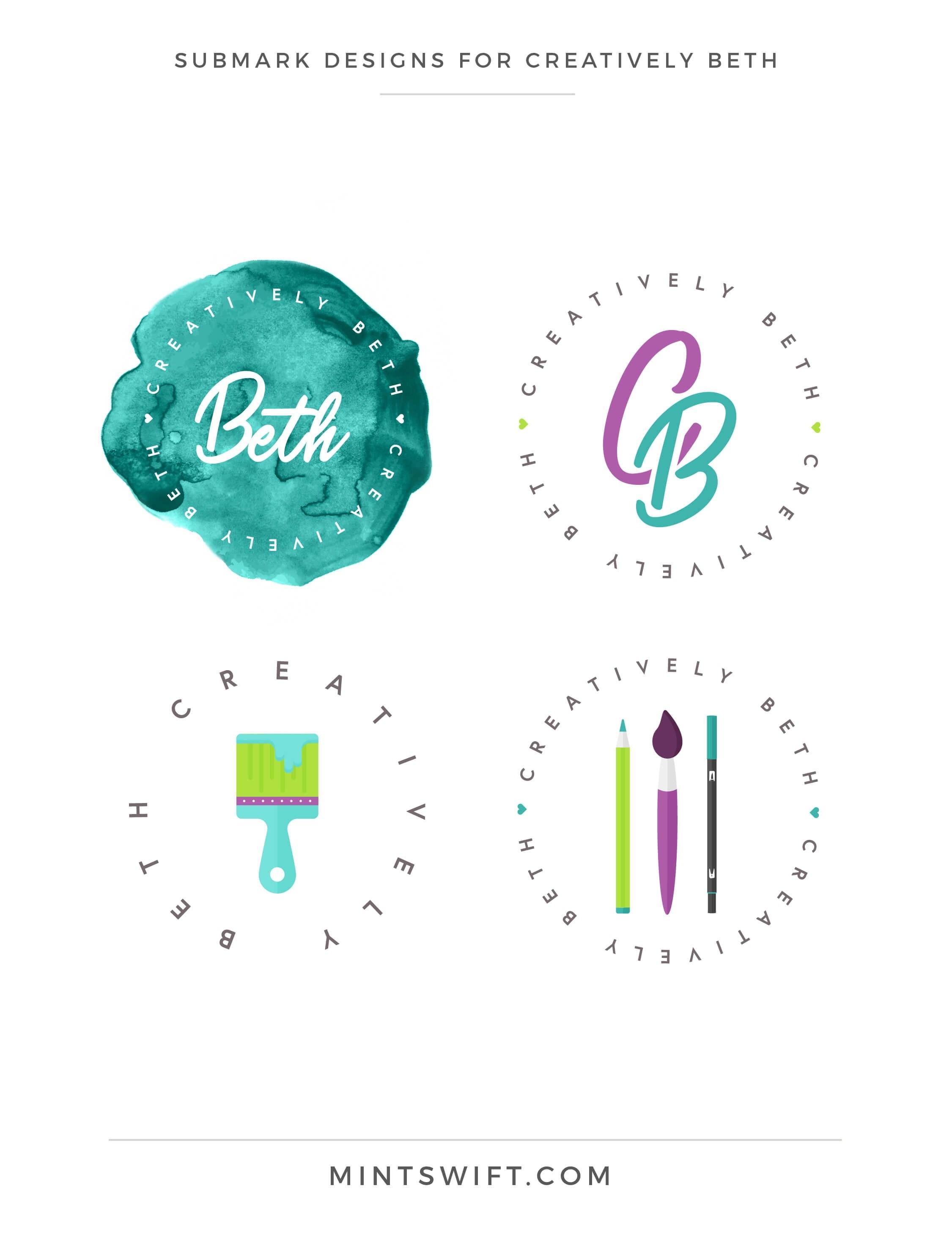 Creatively Beth - Submark Designs - Brand & Website Design - MintSwift