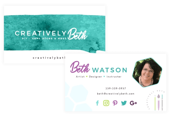 Business card design - brand collateral example - MintSwift