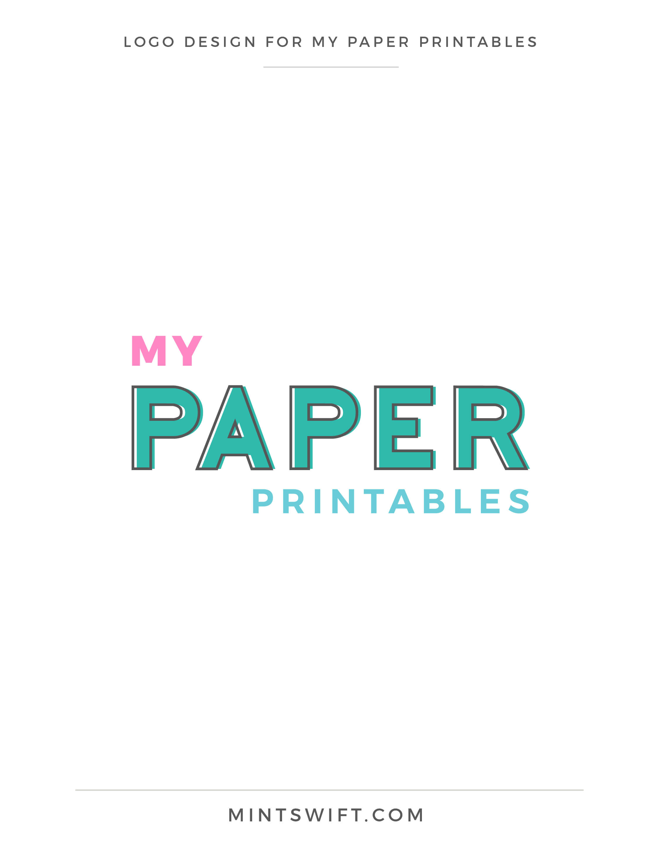 My Paper Printables - Logo Design - Brand Design - MintSwift
