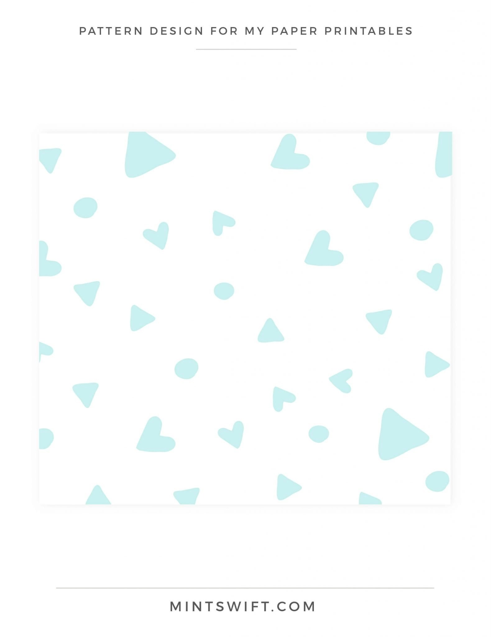 My Paper Printables - Pattern Design - Brand Design - MintSwift