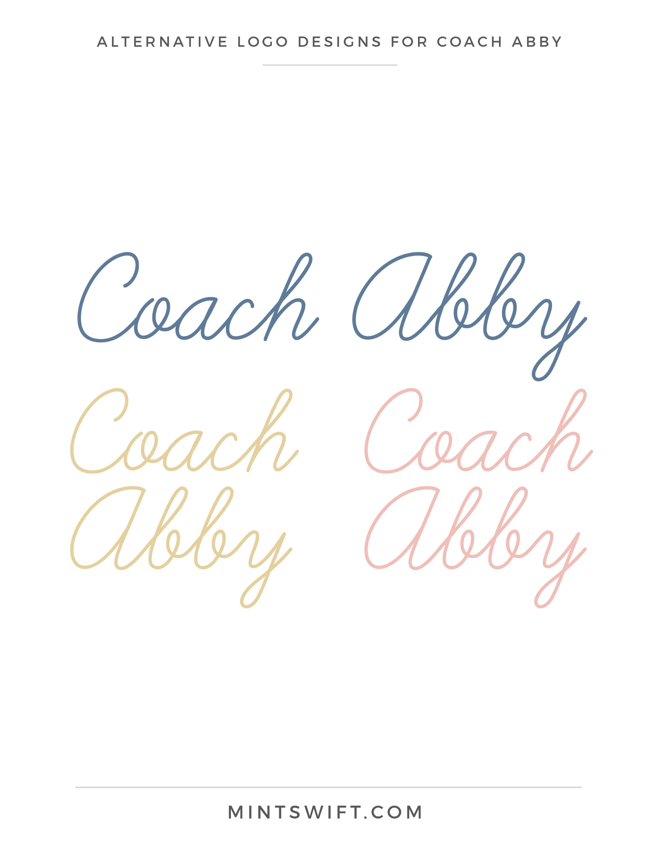 Coach Abby - Alternative Logo Designs - Brand Design - MintSwift