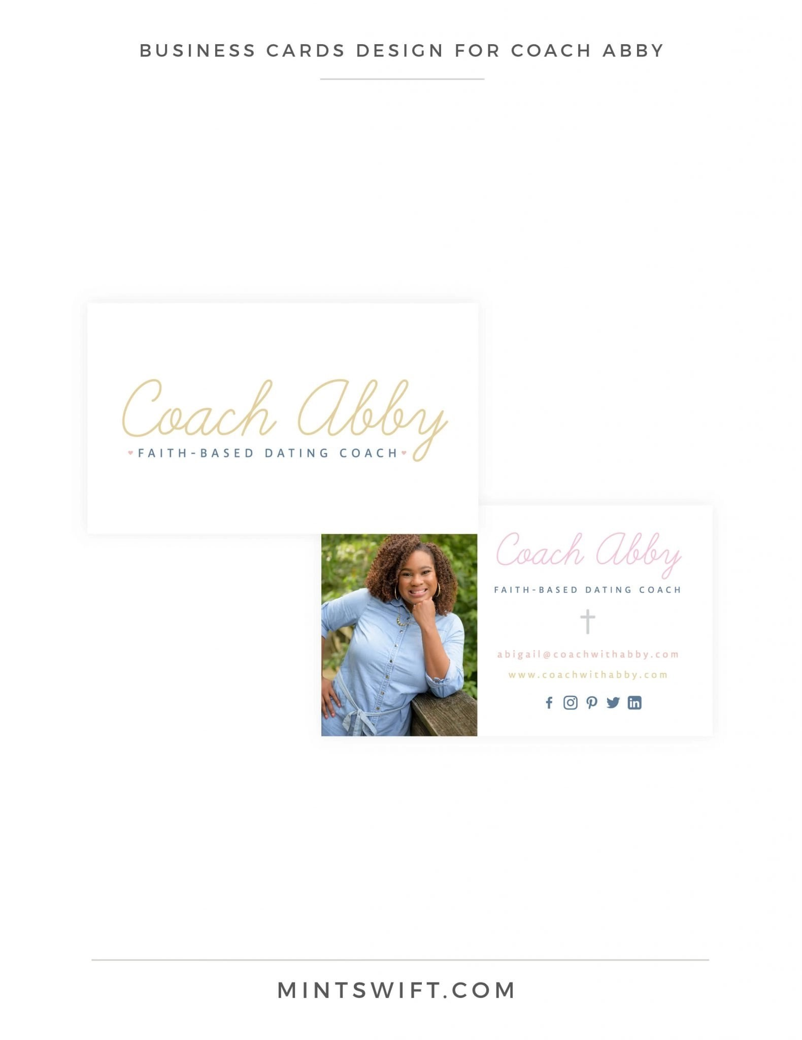 Coach Abby - Business Cards Design - Brand Design - MintSwift