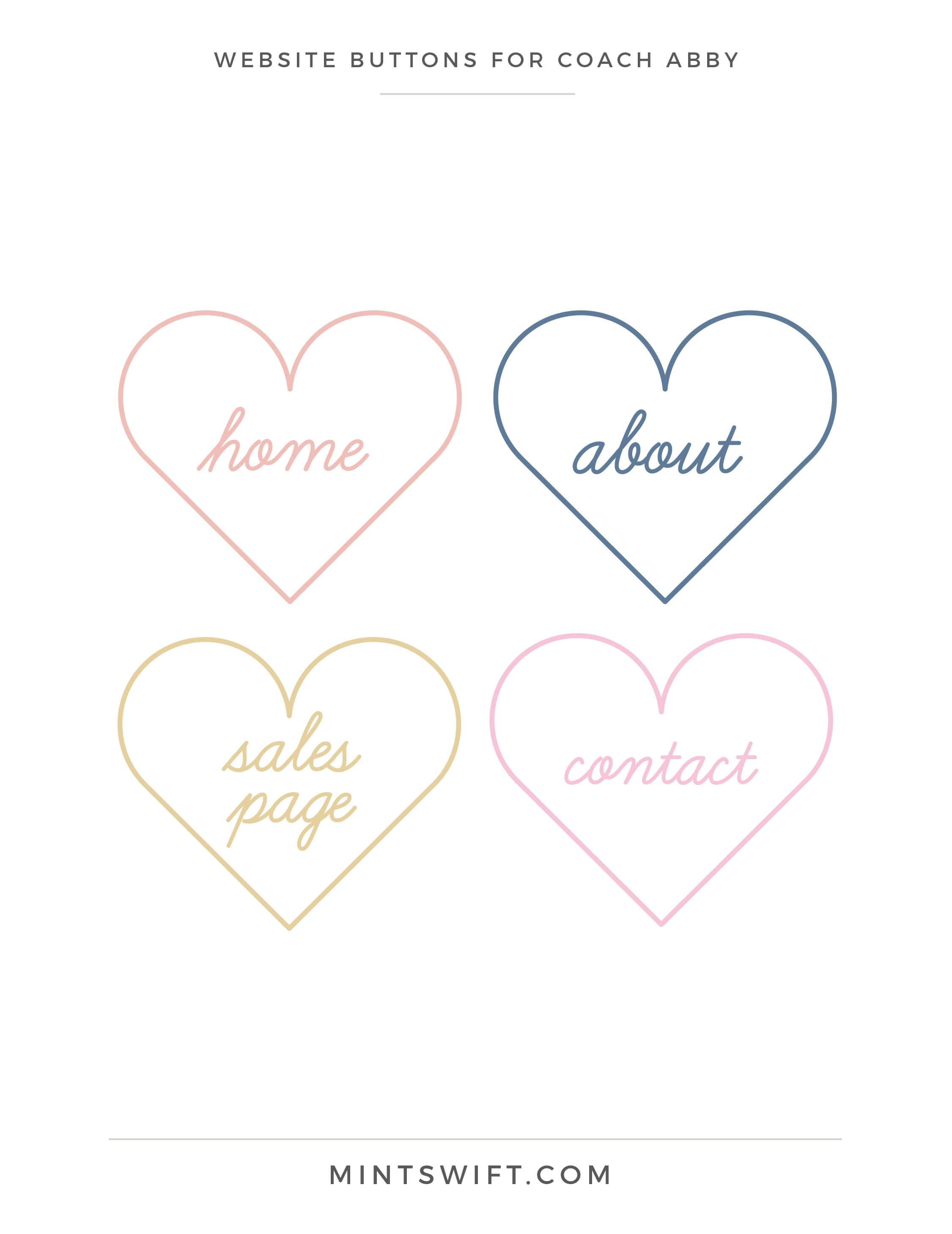Coach Abby - Website Buttons - Brand Design - MintSwift