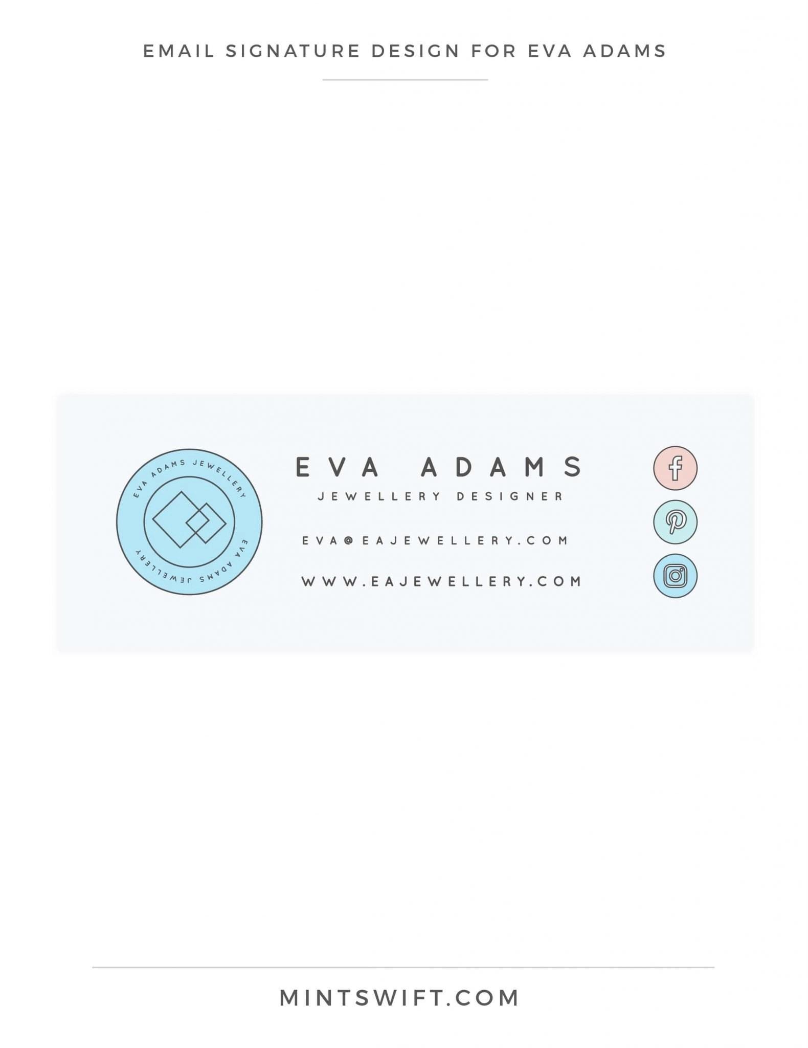 Eva Adams - Email signature - MintSwift