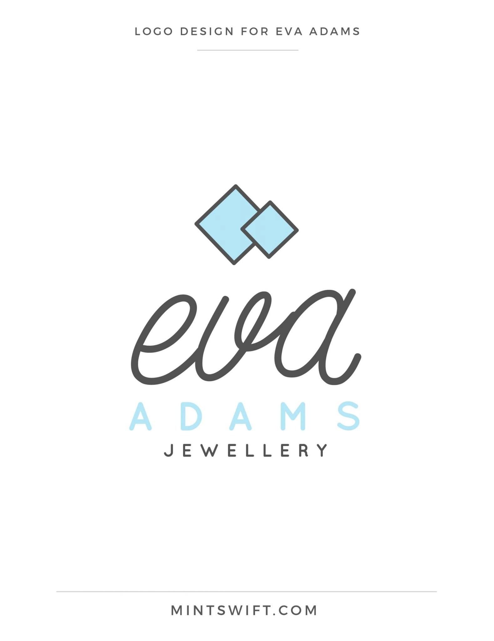 Eva Adams - Logo design - MintSwift