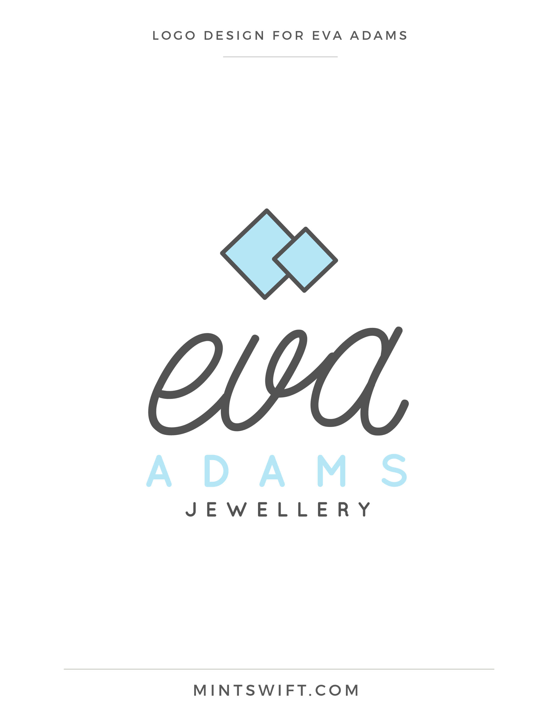 Eva Adams - Logo design - MintSwift