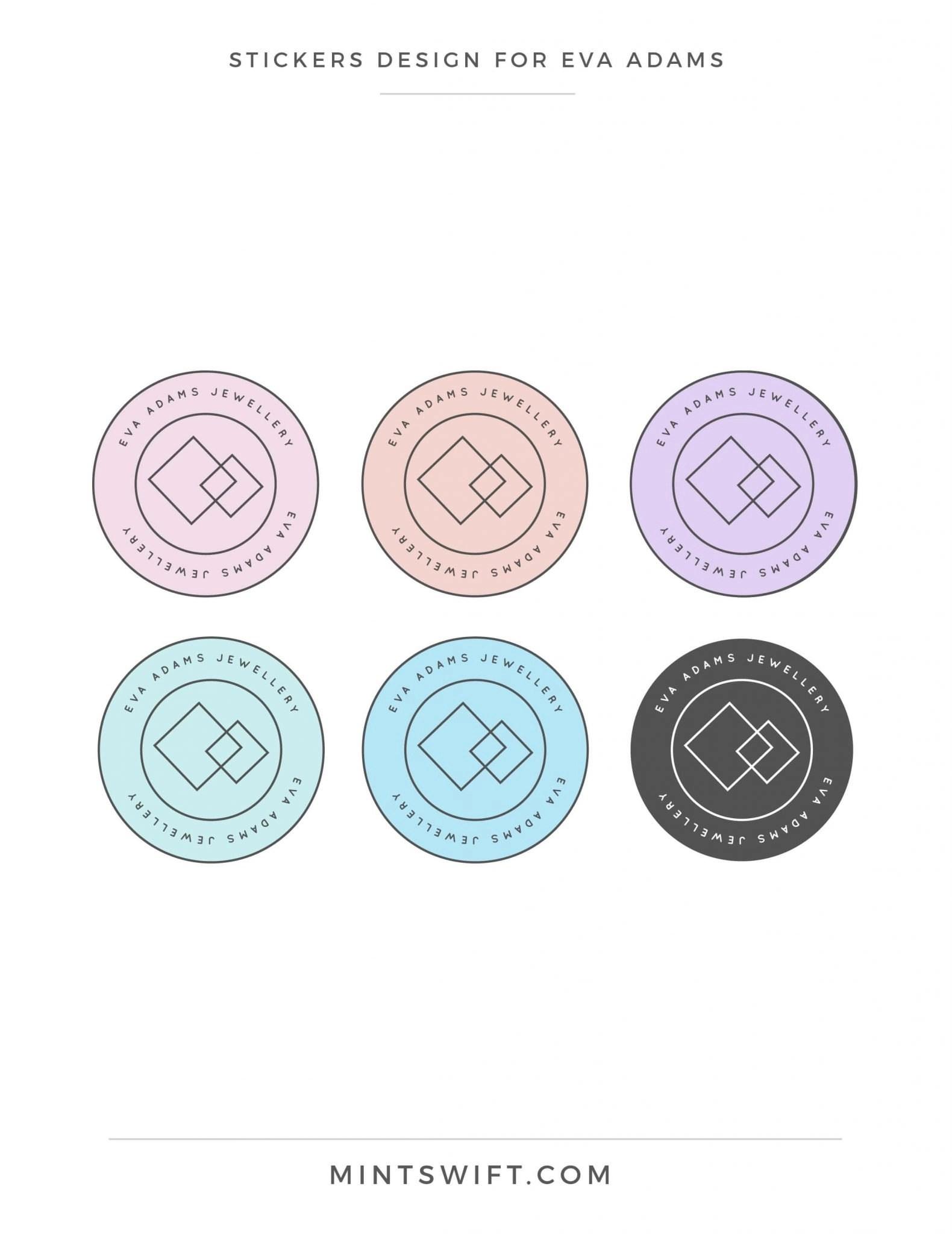 Eva Adams - Stickers design - MintSwift