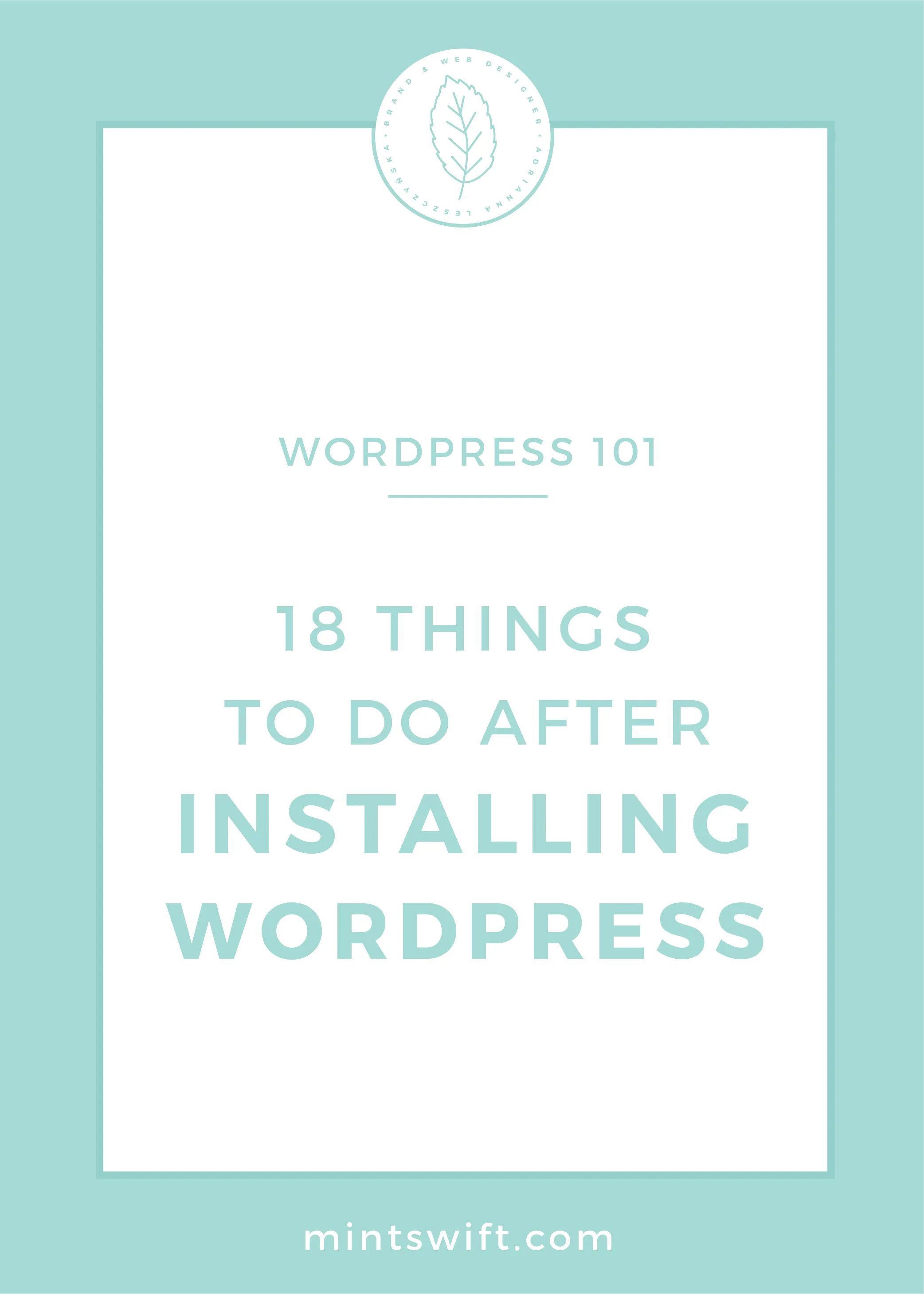 18 Things to Do After Installing WordPress by MintSwift