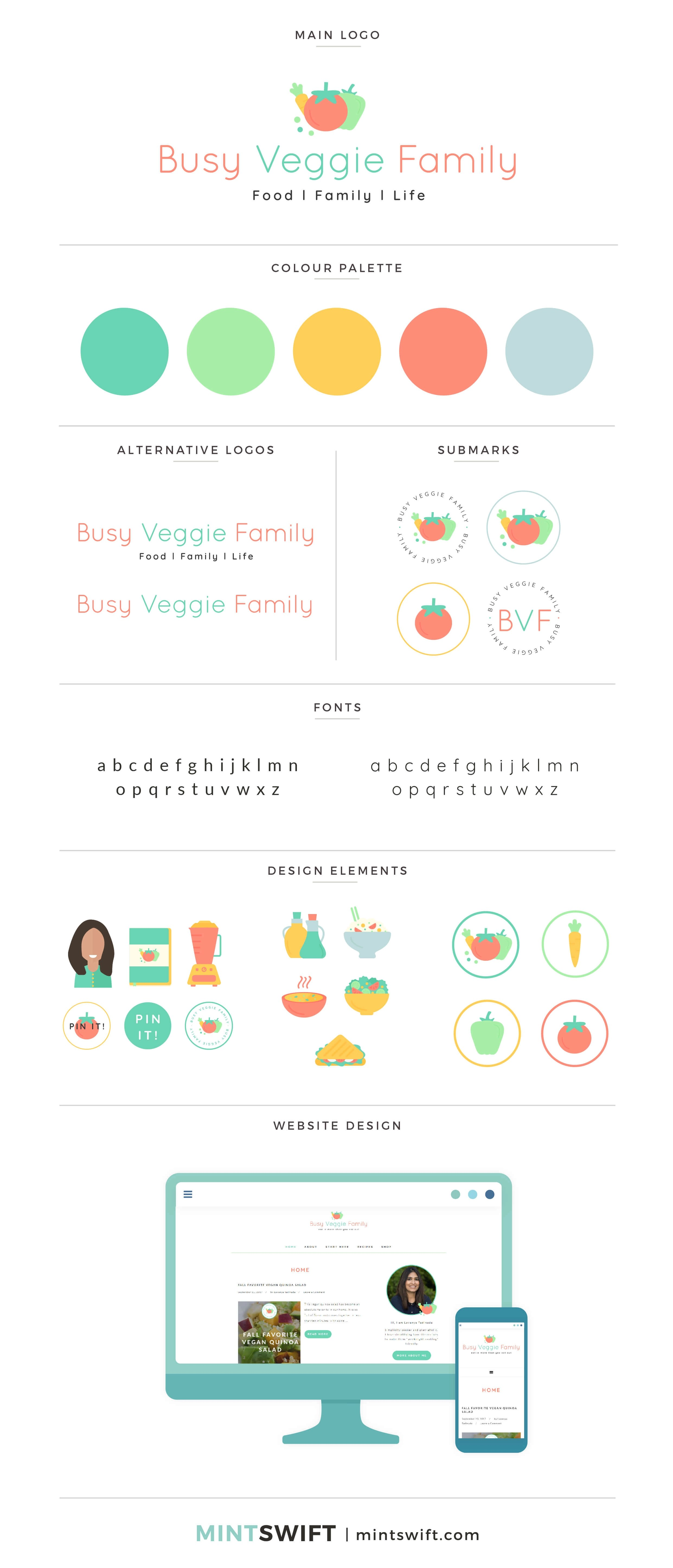 Busy Veggie Family - Brand & Website Design - MintSwift