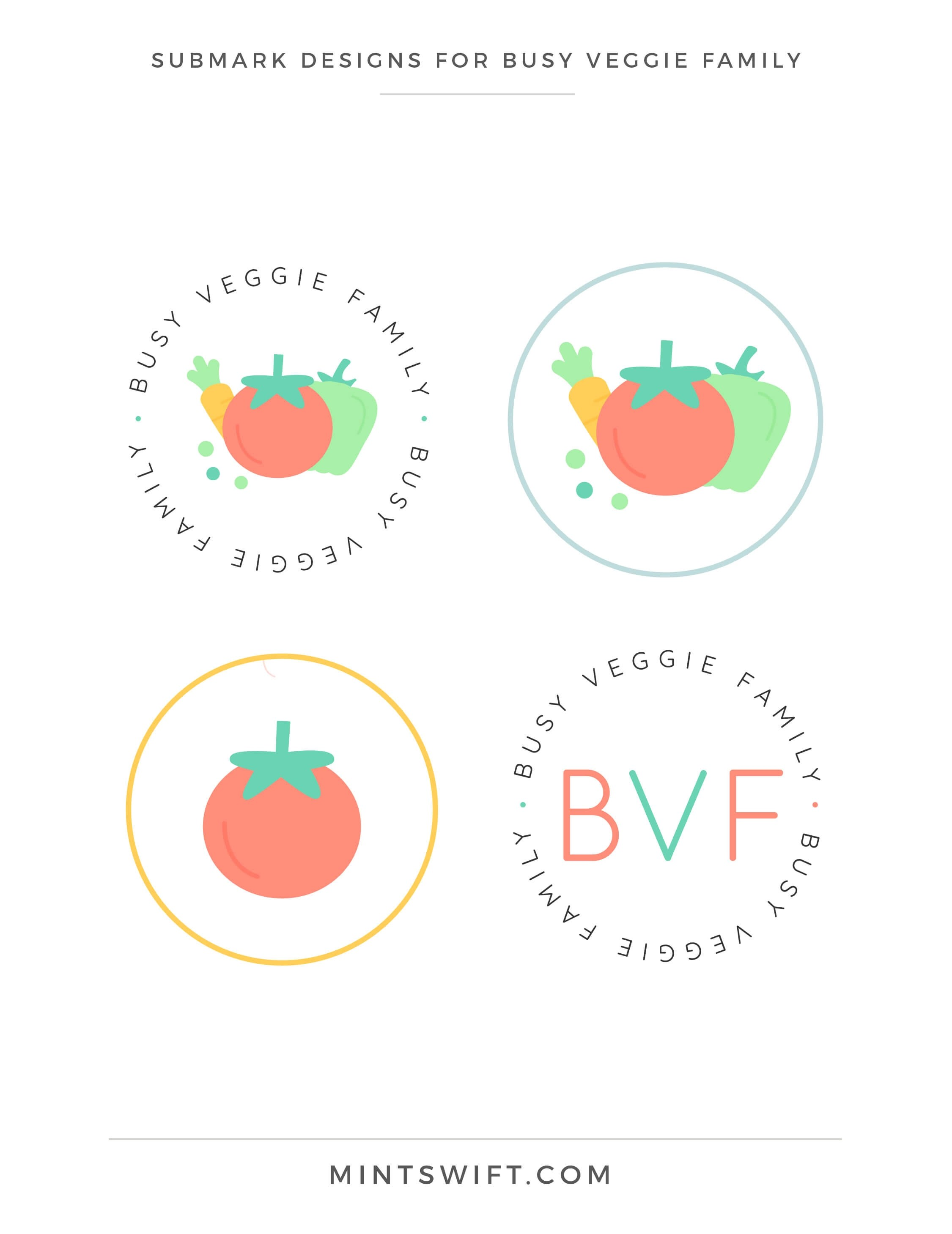 Busy Veggie Family - Submark Designs - Brand & Website Design Package - MintSwift