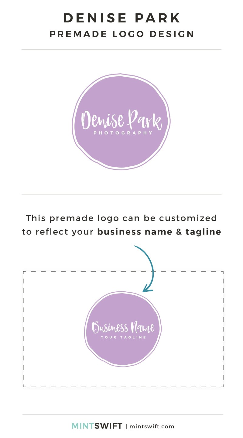 Denise Park - Premade Logo - Personalized with your business name & tagline – MintSwift Shop