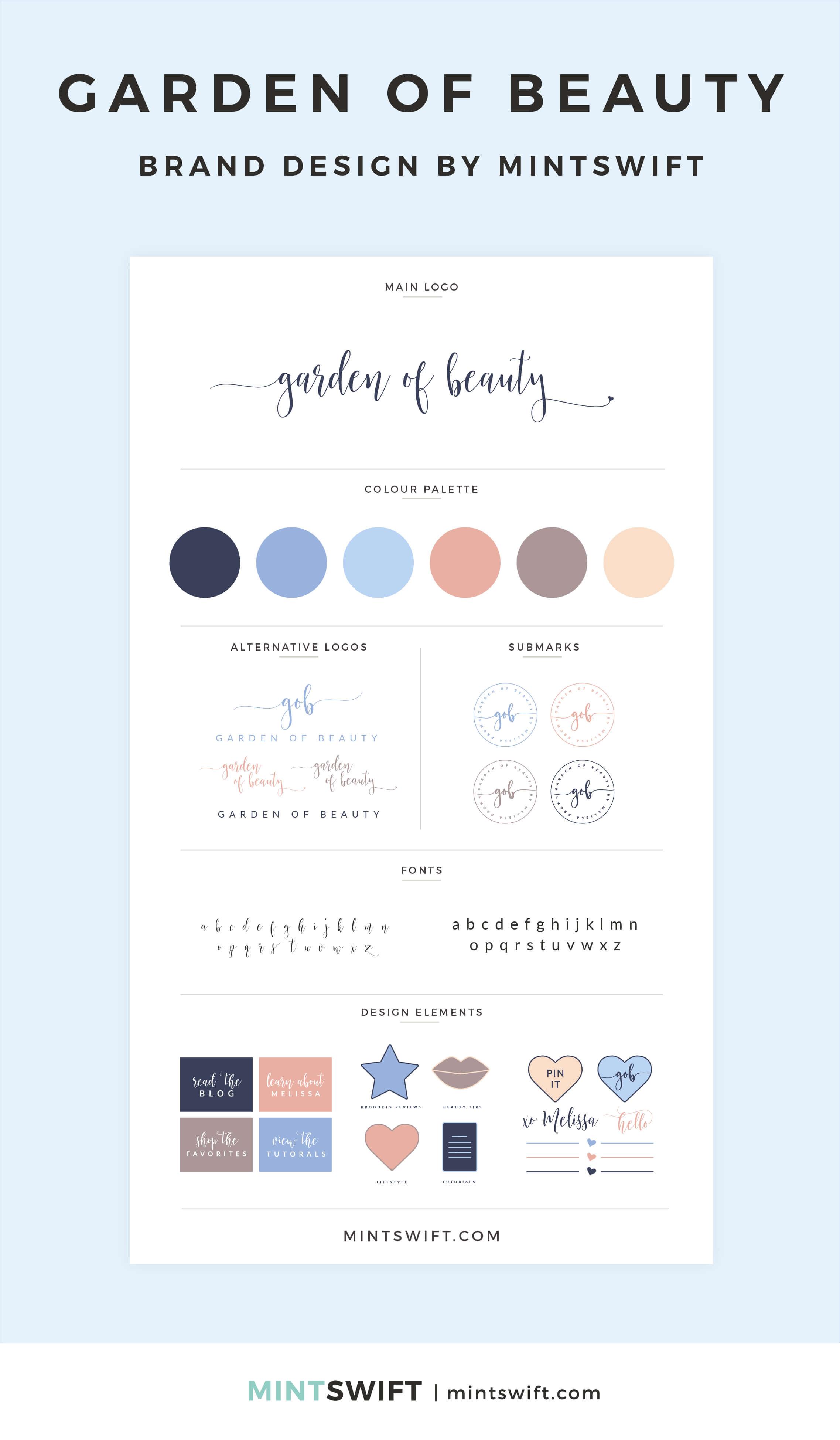 Garden of Beauty - Brand Design - MintSwift - Adrianna Leszczynska