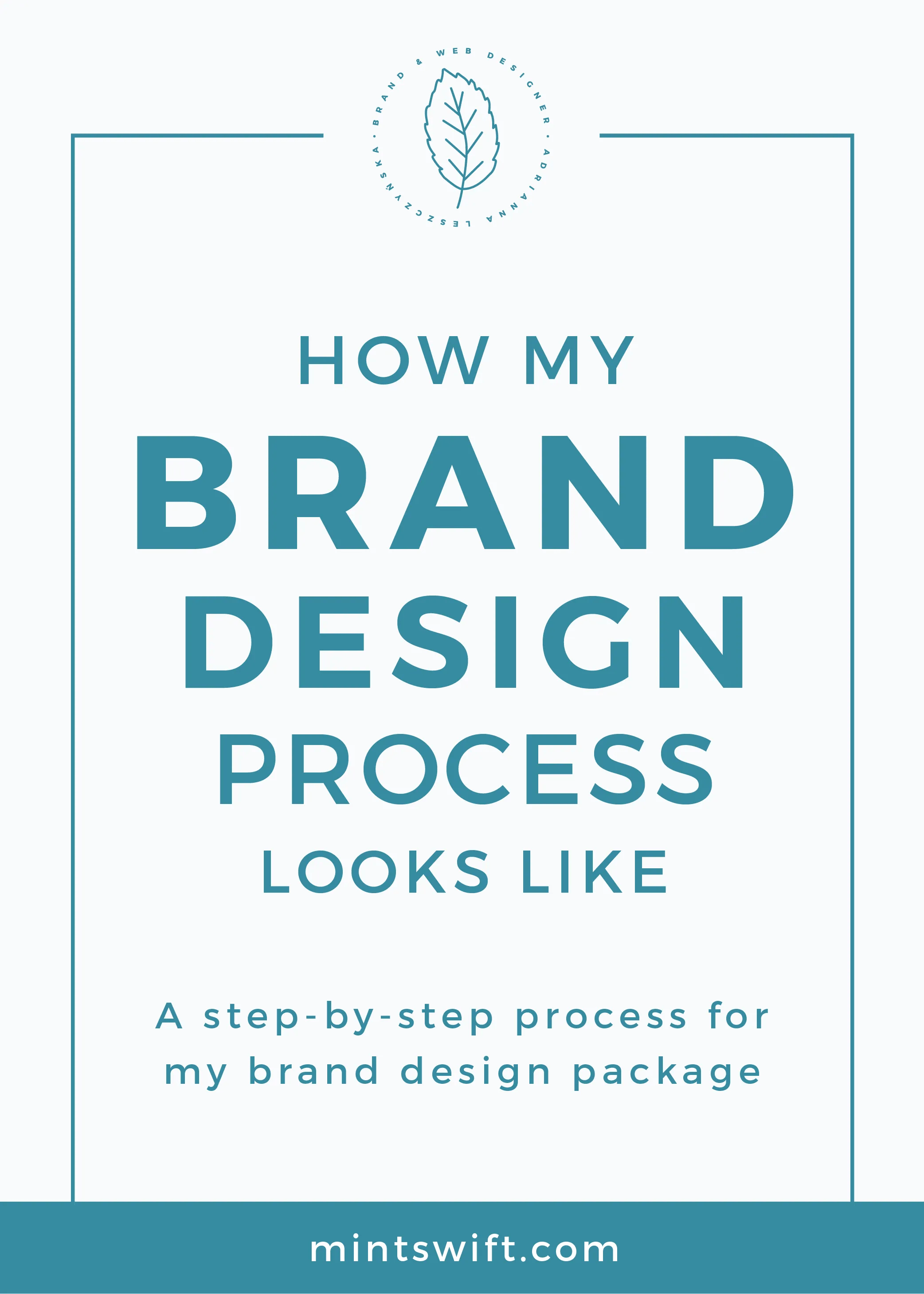 How My Brand Design Process Looks Like. A Step-by-Step Process for My Brand Design Package MintSwift