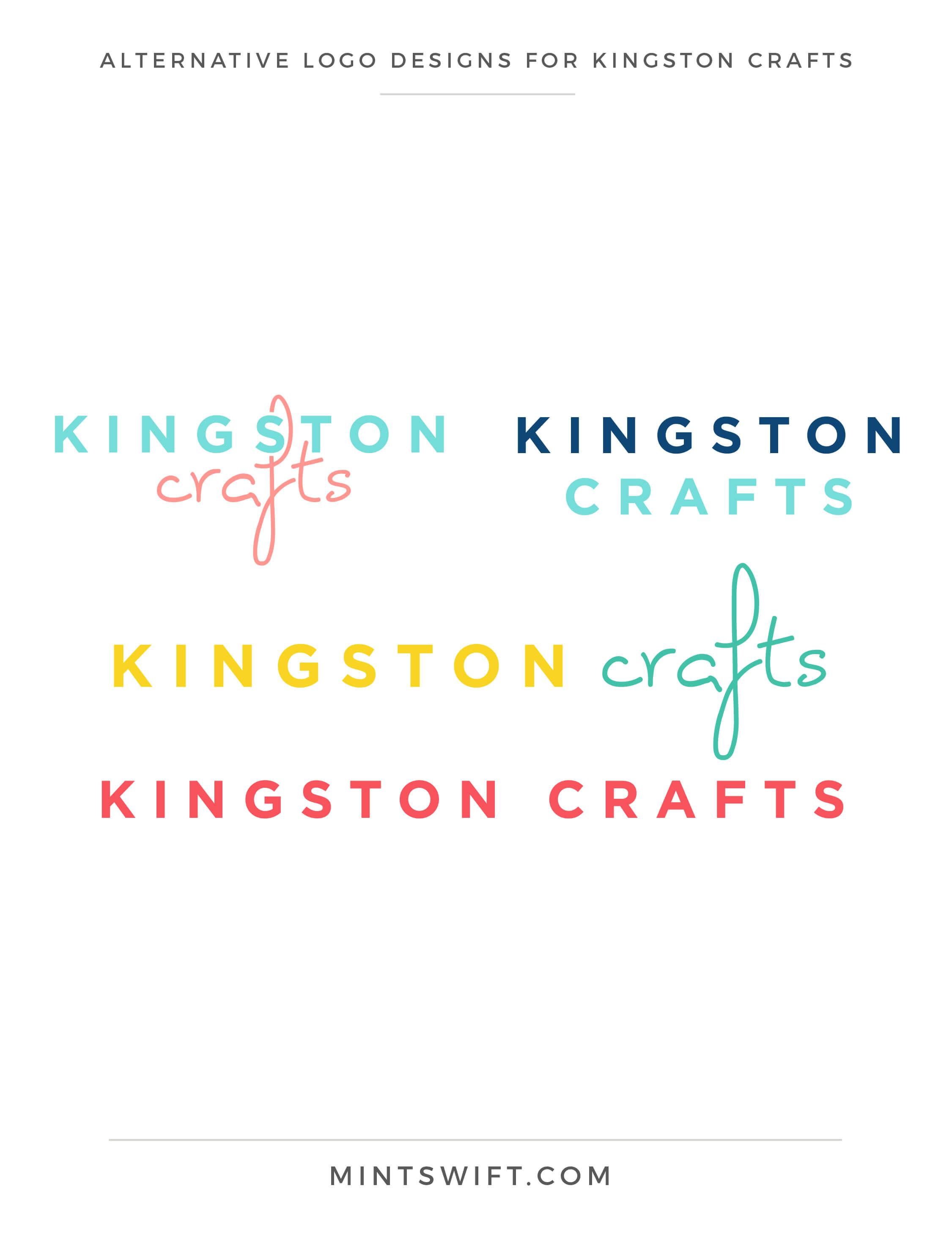 Kingston Crafts - Alternative Logo Designs - Brand Design Package - MintSwift
