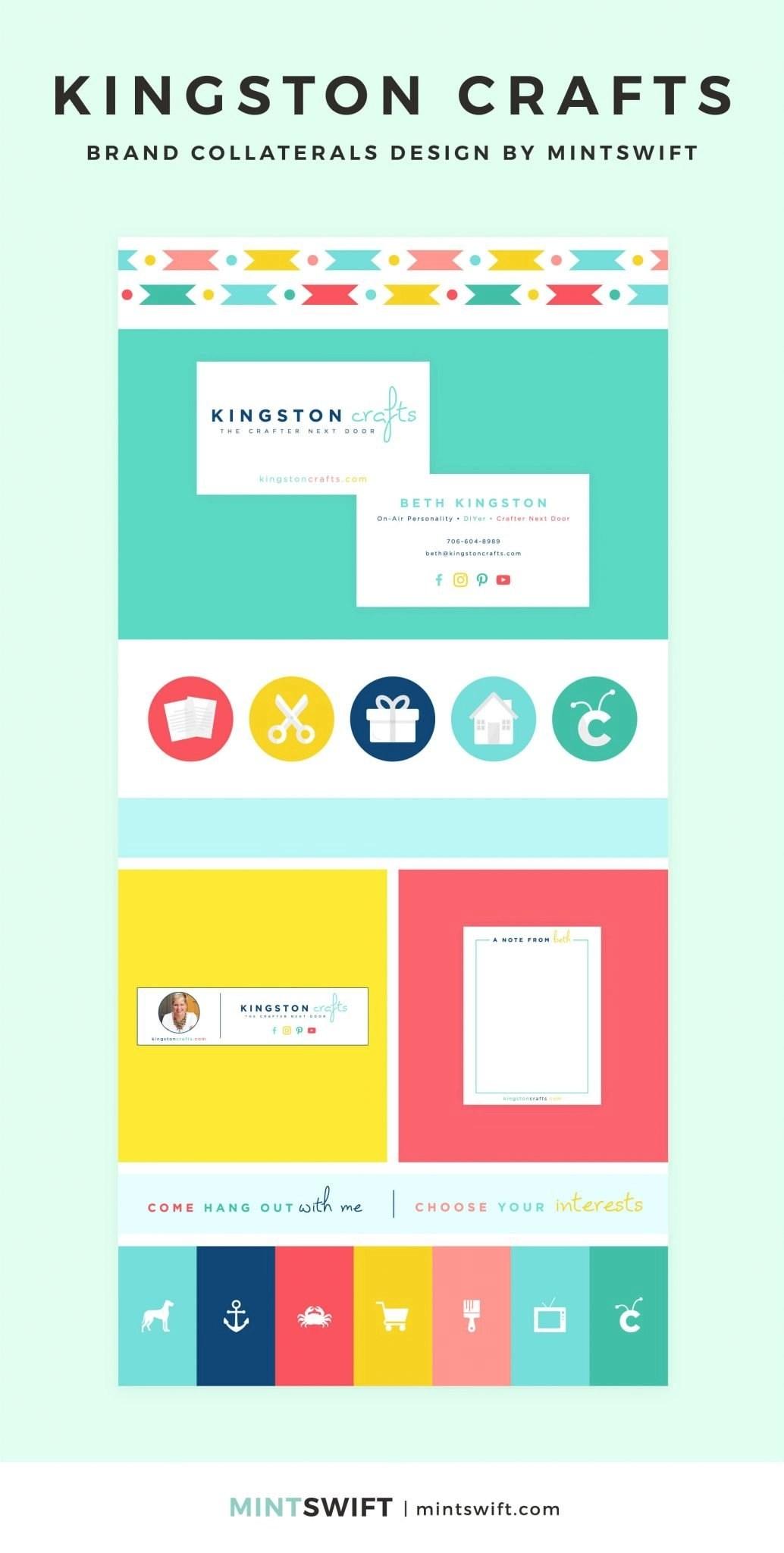 Kingston Crafts - Brand Collaterals Design - MintSwift - Adrianna Leszczynska