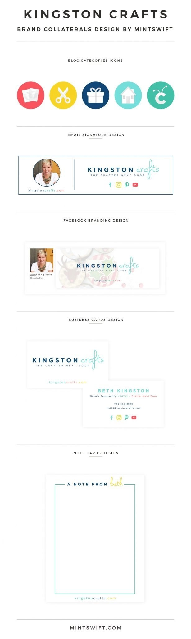 Kingston Crafts - Brand Collaterals Design by MintSwift