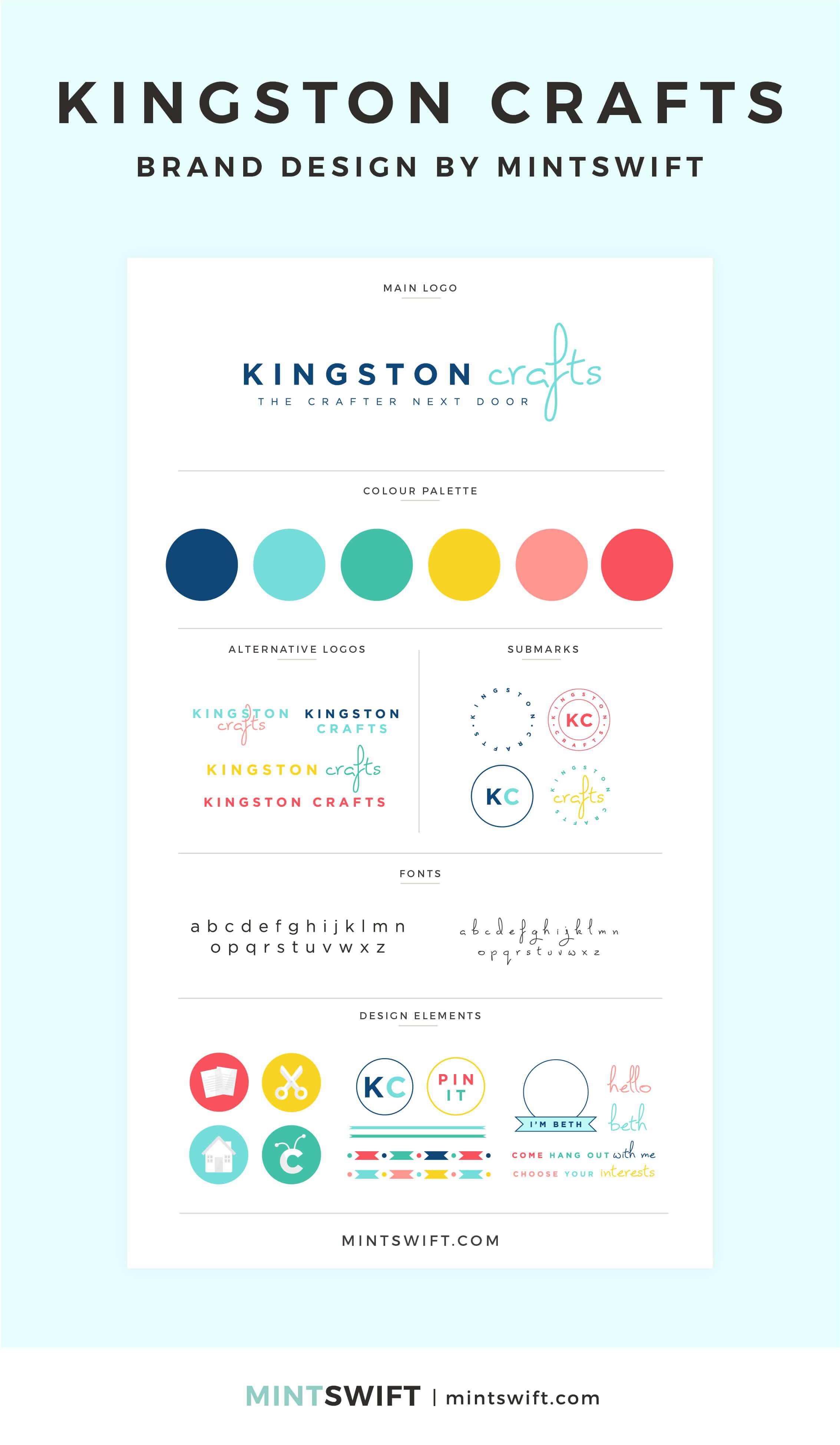 Kingston Crafts - Brand Design - MintSwift - Adrianna Leszczynska