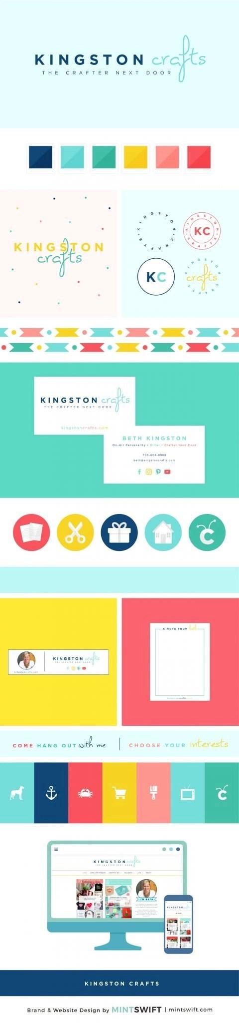 Kingston Crafts - Brand Design Package - MintSwift