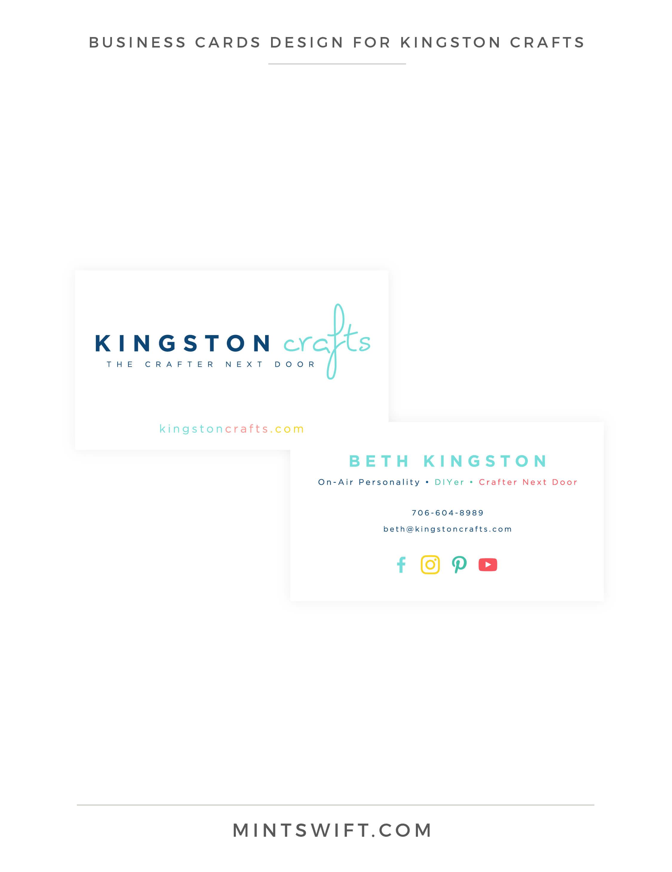 Kingston Crafts - Business Cards Design - Brand Design Package - MintSwift