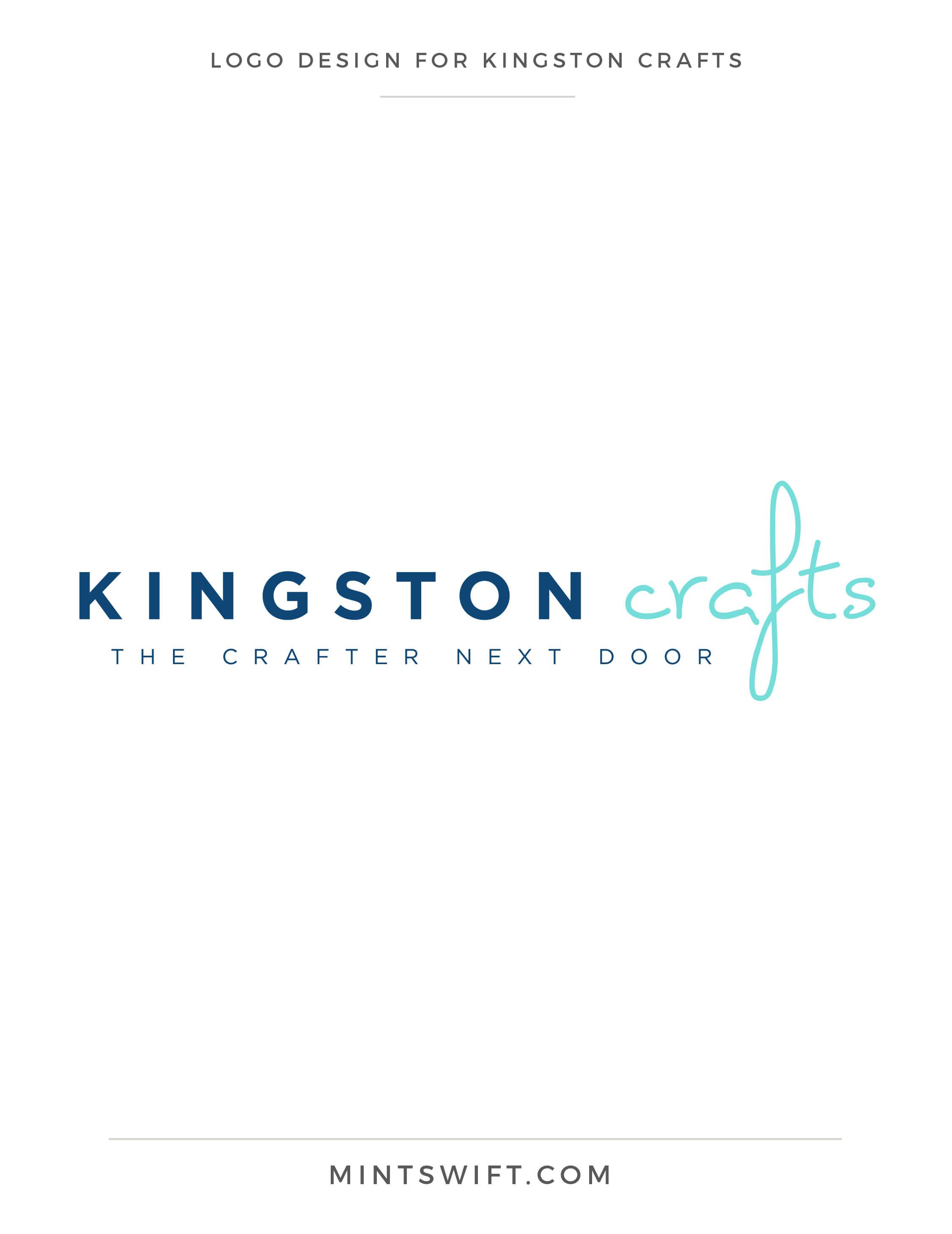 Kingston Crafts - Logo Design - Brand Design Package - MintSwift