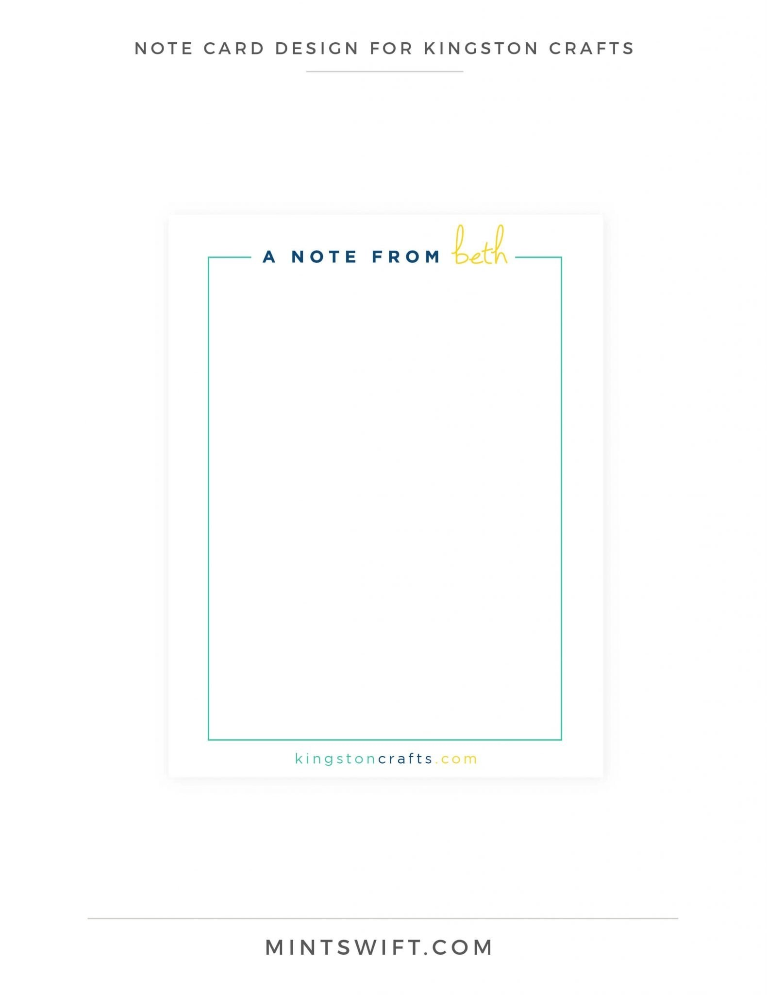 Kingston Crafts - Note Cards Design - Brand Design Package - MintSwift